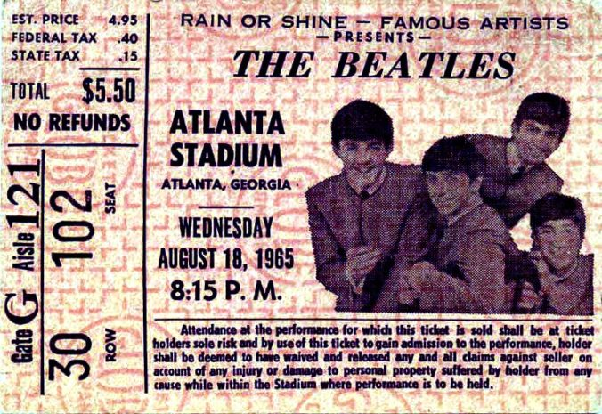 beatles atlanta ticket