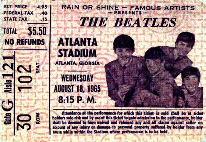 beatles atlanta ticket